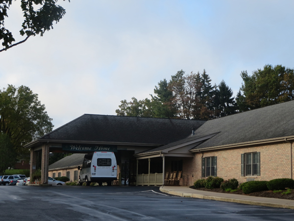 Entrance to Evergreen Retirement, Lancaster, PA